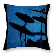 Blue Cymbalism  Throw Pillow