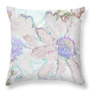 Blue Daisies IIi Throw Pillow
