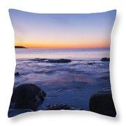 Blue Dawn Acadia National Park Throw Pillow
