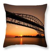 Blue Dawn Throw Pillow