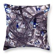 Blue Decoration Light Throw Pillow