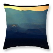 Blue Desert Throw Pillow