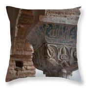 Blue Detail Column Throw Pillow