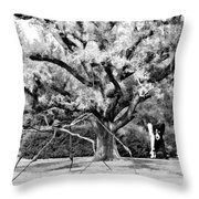 Blue Dog And The Spider Infrared Throw Pillow