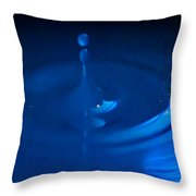 Blue Drops Throw Pillow