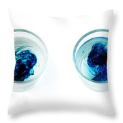 Blue Dye In Water Throw Pillow