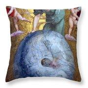 Blue Earth Throw Pillow
