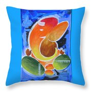 Blue Elephant Abstraction Throw Pillow