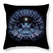 Blue Eye Sphere Throw Pillow by David Kleinsasser