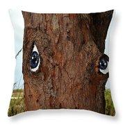 Blue Eyed Pine Throw Pillow