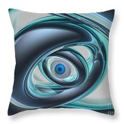 Blue Eyes Of A Machine Throw Pillow