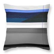 Blue Flag Throw Pillow