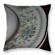 Blue Floral Throw Pillow