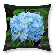 Blue Garden Flower Throw Pillow