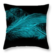 Blue Ghost On Black Throw Pillow