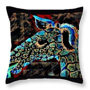Blue Giraffe Throw Pillow