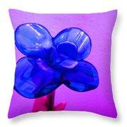 Blue Glass Purple Wall Pink Hand Throw Pillow