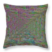 Blue Green Abstract Throw Pillow