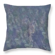 Blue Grey Abstract Throw Pillow