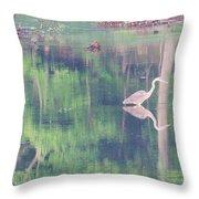 Blue Heron6 Throw Pillow