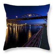Blue Hour Hoan Throw Pillow