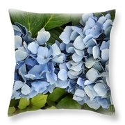 Blue Hydrangeas With Watercolor Effect Throw Pillow