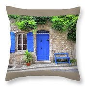 Blue In Provence France Throw Pillow