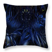 Blue Jade Fx  Throw Pillow