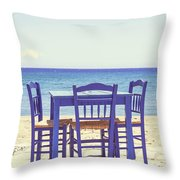 Blue Throw Pillow by Joana Kruse