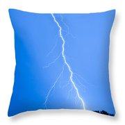 Blue Lightning Throw Pillow