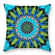 Blue Mandela 102311 Throw Pillow