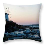 Blue Marina Paros Throw Pillow