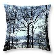 Blue Mirage Throw Pillow
