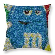 Blue Mm Mosaic Throw Pillow
