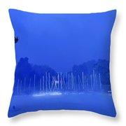 Blue Mondays Throw Pillow