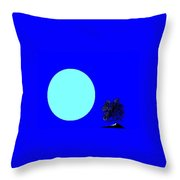 Blue Moon And Tree Throw Pillow