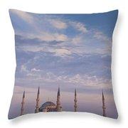 Blue Mosque Throw Pillow
