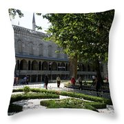 Blue Mosque I - Istanbul Throw Pillow
