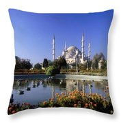 Blue Mosque, Sultanahmet, Istanbul Throw Pillow
