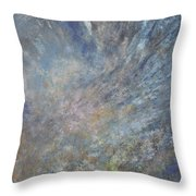 Blue Nebula #1 Throw Pillow