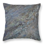 Blue Nebula #2 Throw Pillow