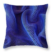 Blue Net Background Throw Pillow by Carlos Caetano