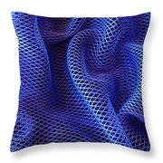 Blue Net Background Throw Pillow