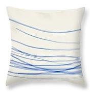 Blue Nylon Fibers Throw Pillow