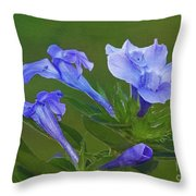 Blue On Green Throw Pillow