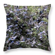 Blue Over Grey Throw Pillow