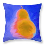 Blue Pearspective Throw Pillow