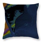 Blue Petal Throw Pillow