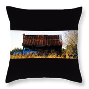 Blue Pickup Truck Throw Pillow