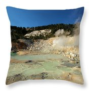 Blue Pools And Funaroles Throw Pillow